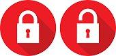 istock Red Lock Unlock Icons 586362224