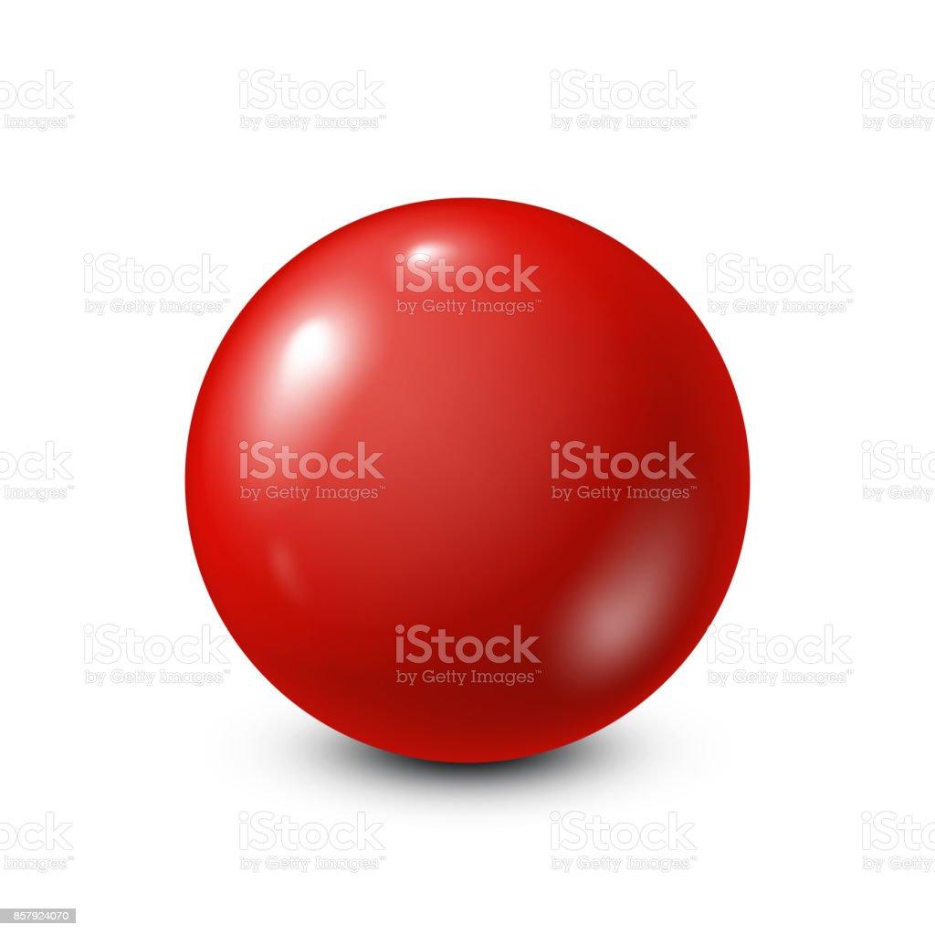 Red lottery, billiard,pool ball. Snooker. White background. Vector illustration vector art illustration