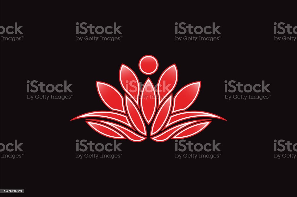Red lotus flower logo vector icon stock vector art more images of red lotus flower logo vector icon royalty free red lotus flower logo vector icon mightylinksfo