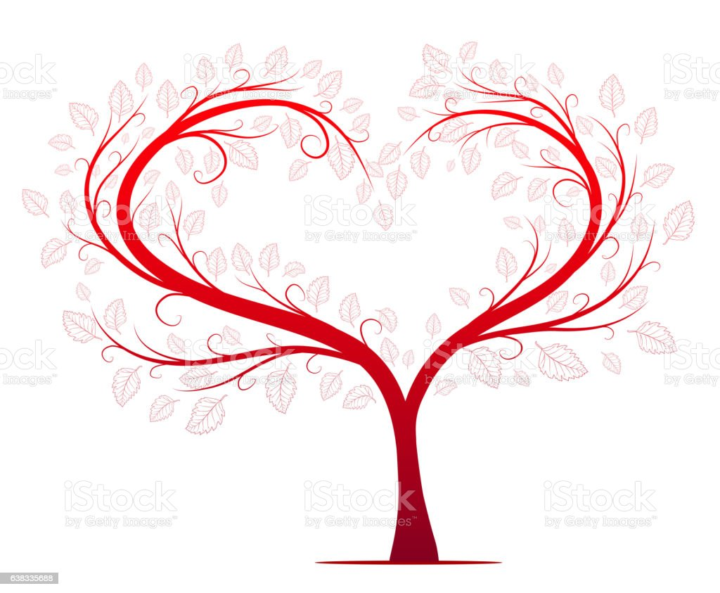 Red Love Tree Vector Stock Vector Art & More Images of ...