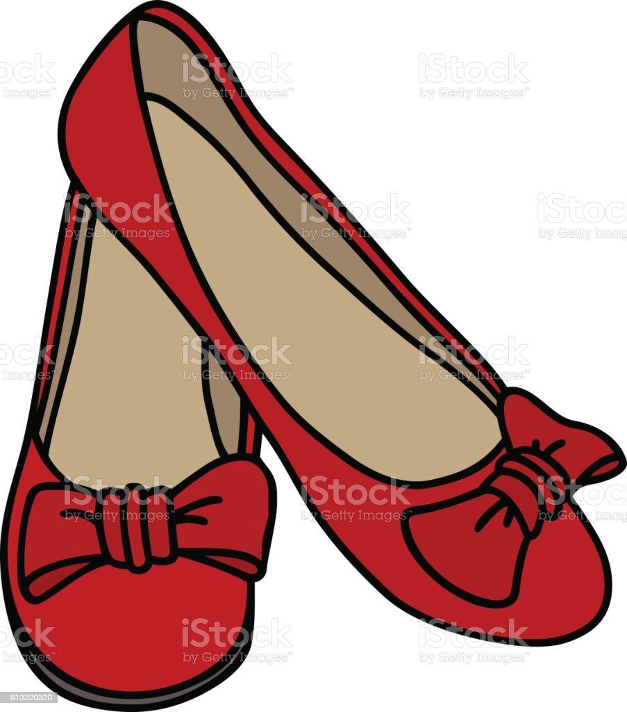 royalty free red ballet slippers clip art vector images rh istockphoto com ballet slipper clip art ballerina slippers clipart free