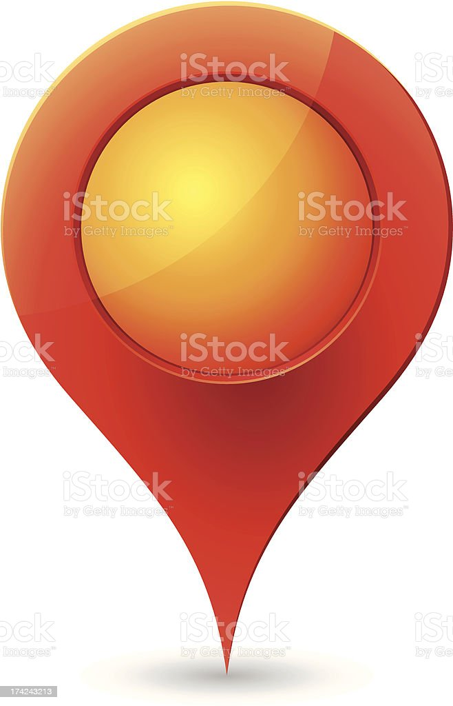 Red Map Pointer royalty-free stock vector art