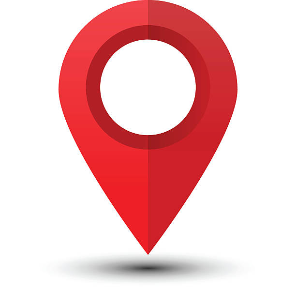 Red map pointer Map pointer isolated on a white background. Map marker. Flat style vector illustration accuracy stock illustrations