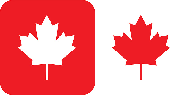 Red Maple Leaf Icons Stock Illustration - Download Image Now