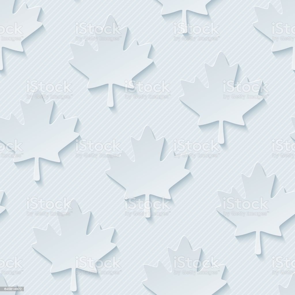 Red maple leaves seamless wallpaper pattern. vector art illustration