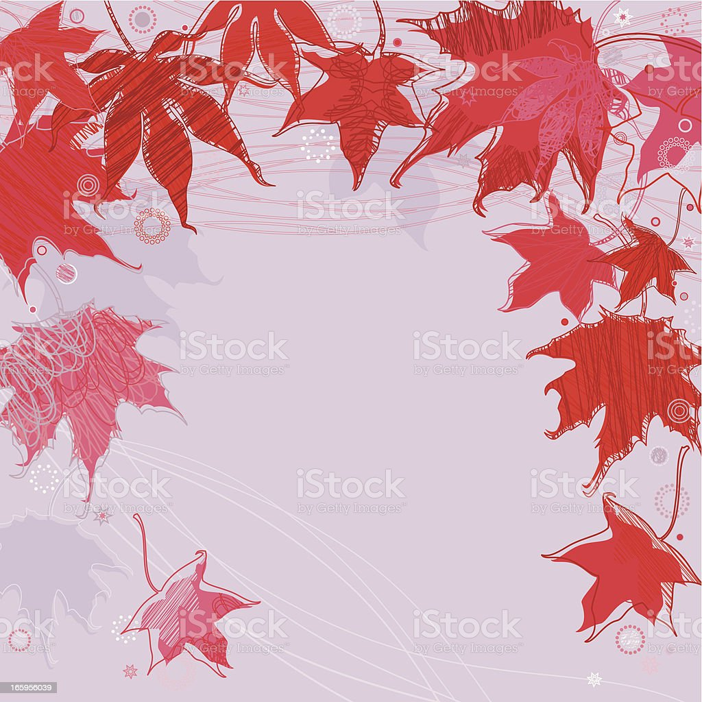 Red Maple Leaves vector art illustration