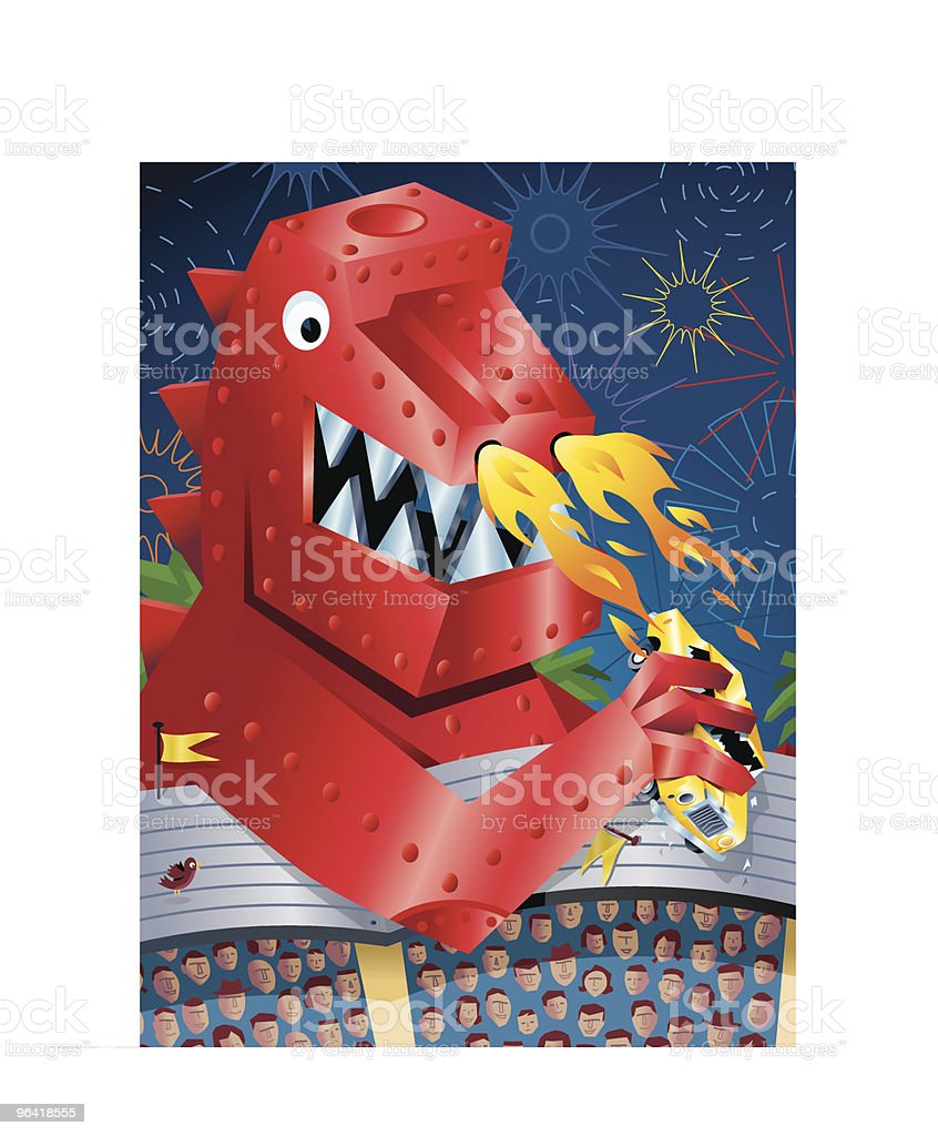 Red Metal Monster Robot royalty-free red metal monster robot stock vector art & more images of animal representation