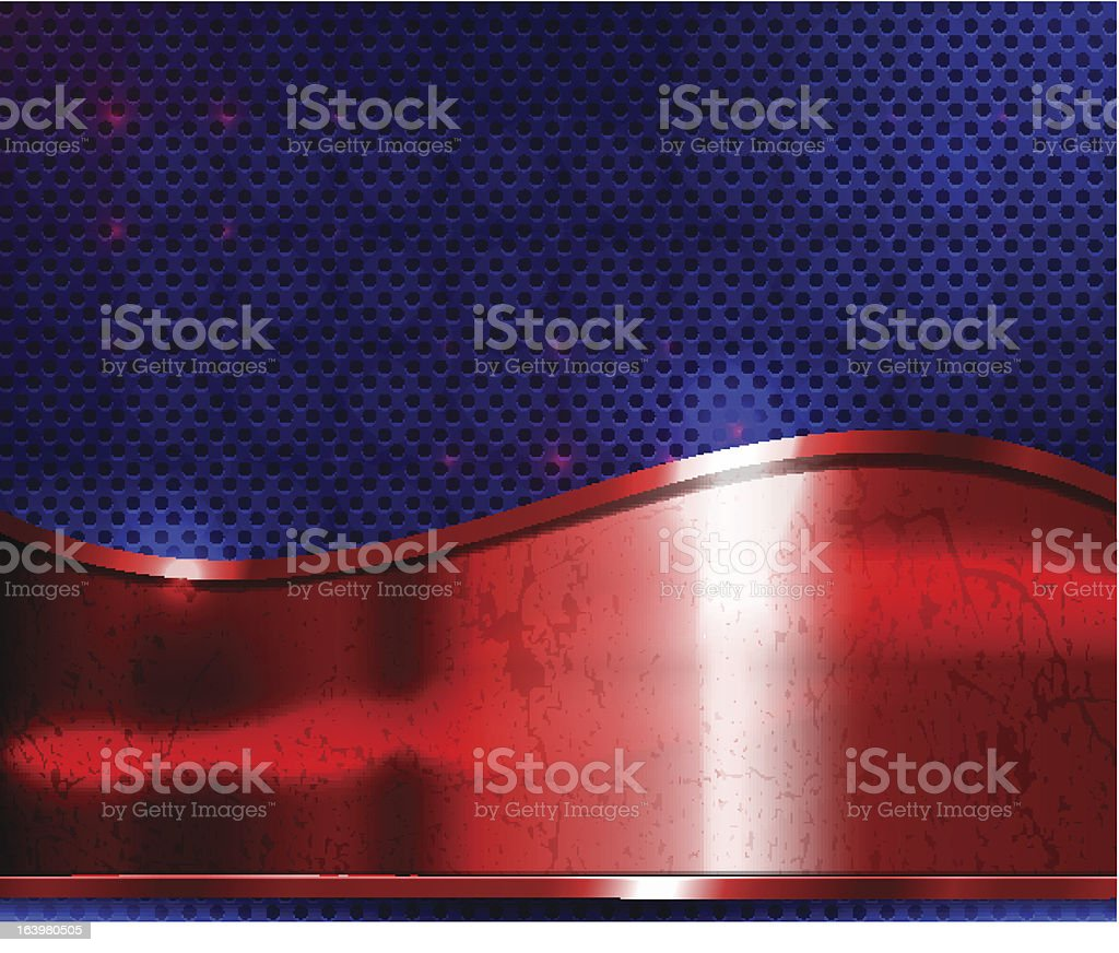 red metal plate royalty-free stock vector art