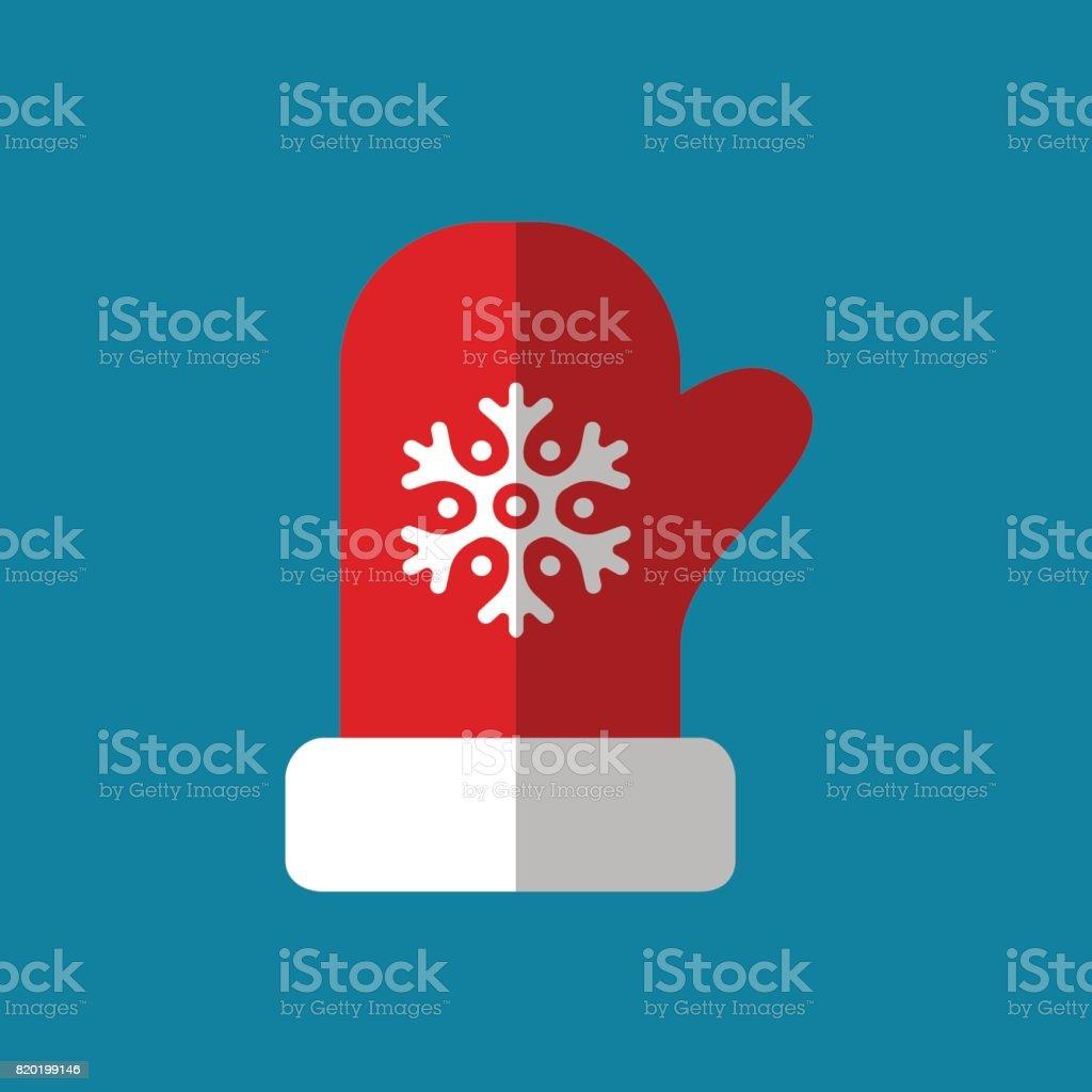 red mitten icon, vector logo illustration vector art illustration