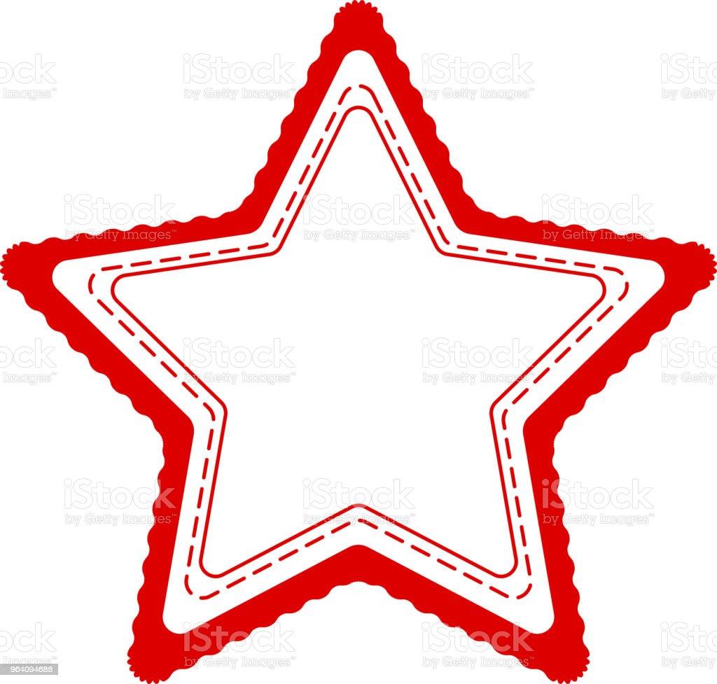 赤白黒おしゃれな飾りメダル - アイデンティティーのロイヤリティフリーベクトルアート