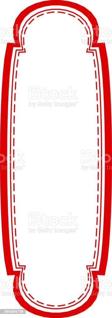 Red Monochrome Fashionable tag - Royalty-free Abstract stock vector