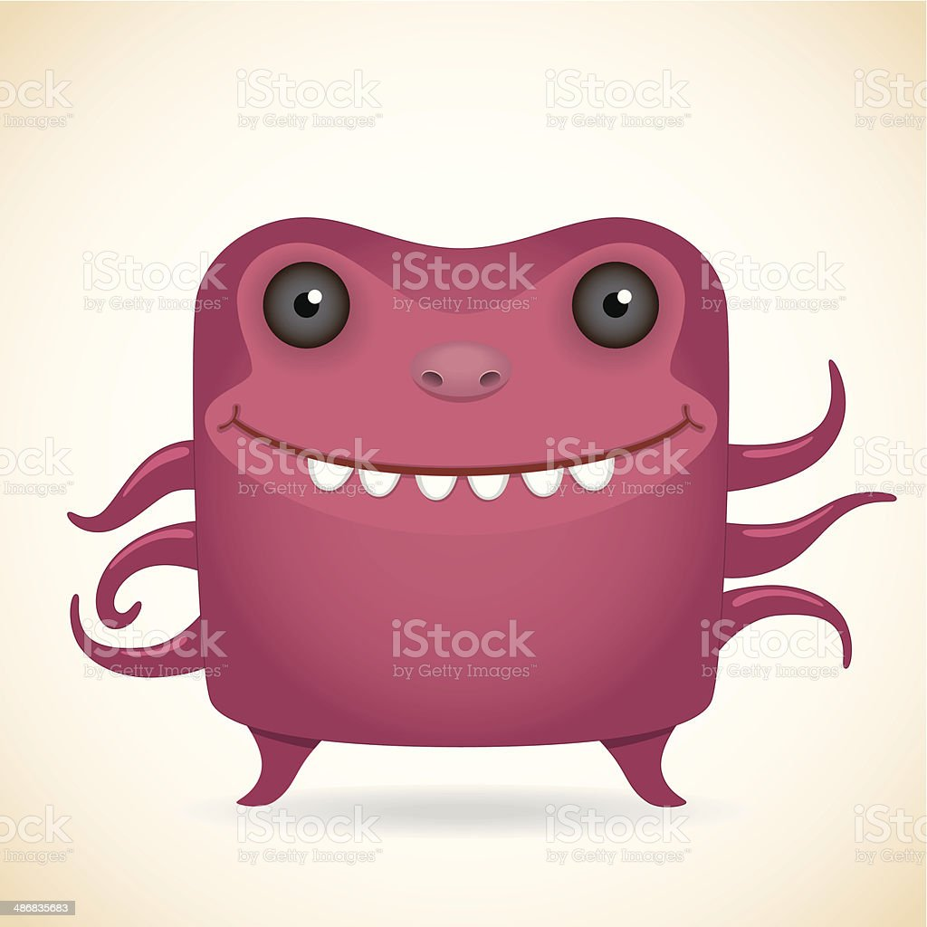 Red monster royalty-free stock vector art