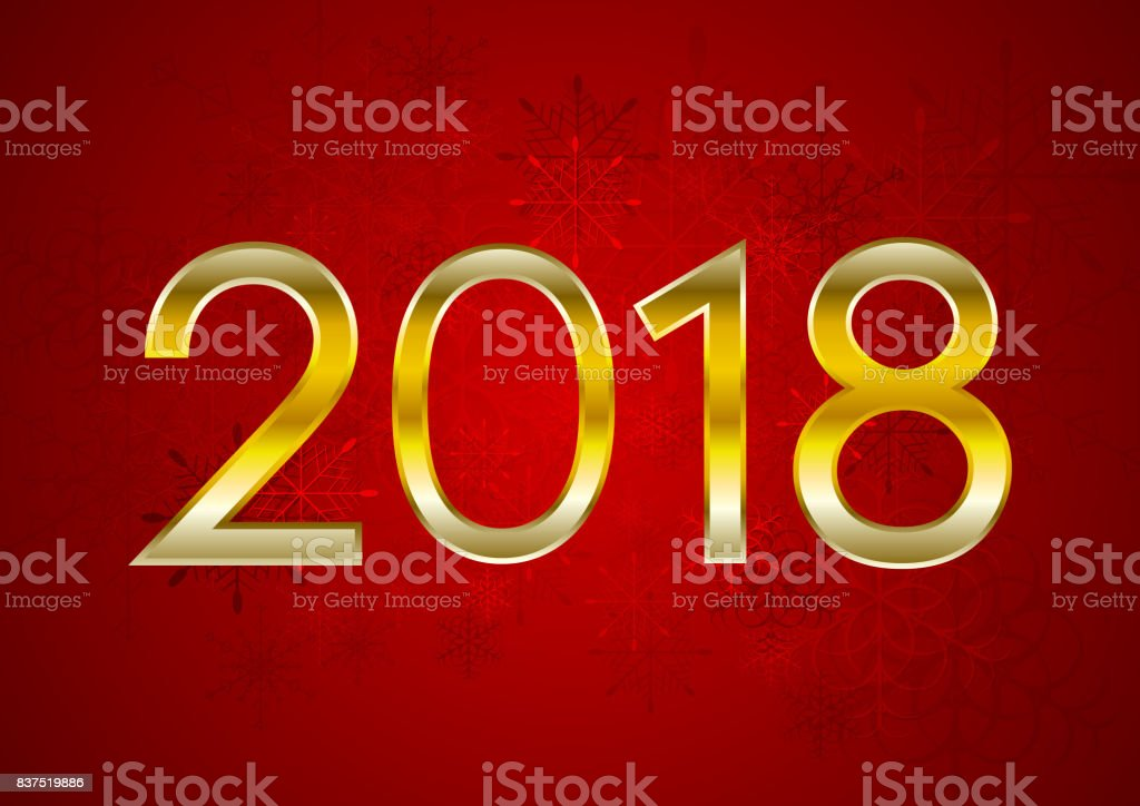 red new year 2018 abstract vector background royalty free red new year 2018 abstract vector