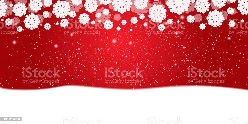 Rot Silvester Weihnachten Hintergrund Mit Weißen Schneeflocken Und ...