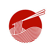 istock Red Noodle logo 1295890098