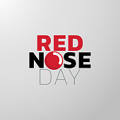 Red Nose Day icon design, medical . Vector illustration