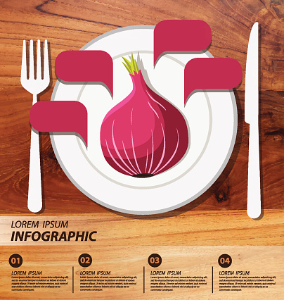 Red Onion Infographics Vegetables Vector Illustration ...