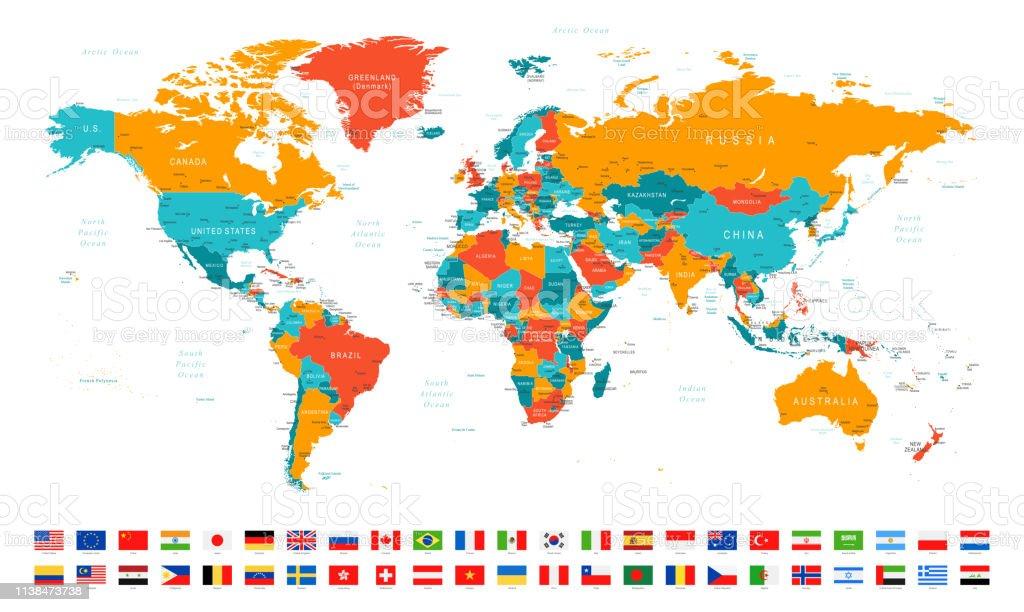 065 - Red Orange Blues and Flags - Векторная графика Австралия - Австралазия роялти-фри