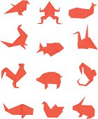 Red Origami set