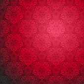 Ornamental seamless pattern. Festive red style. Bright holiday background