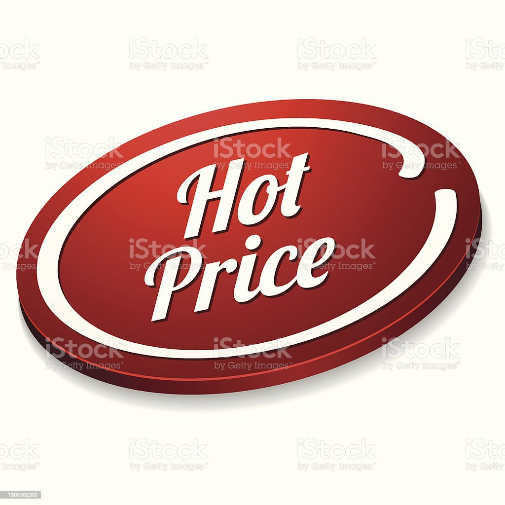 Red oval hot price button royalty-free red oval hot price button stock vector art & more images of agreement