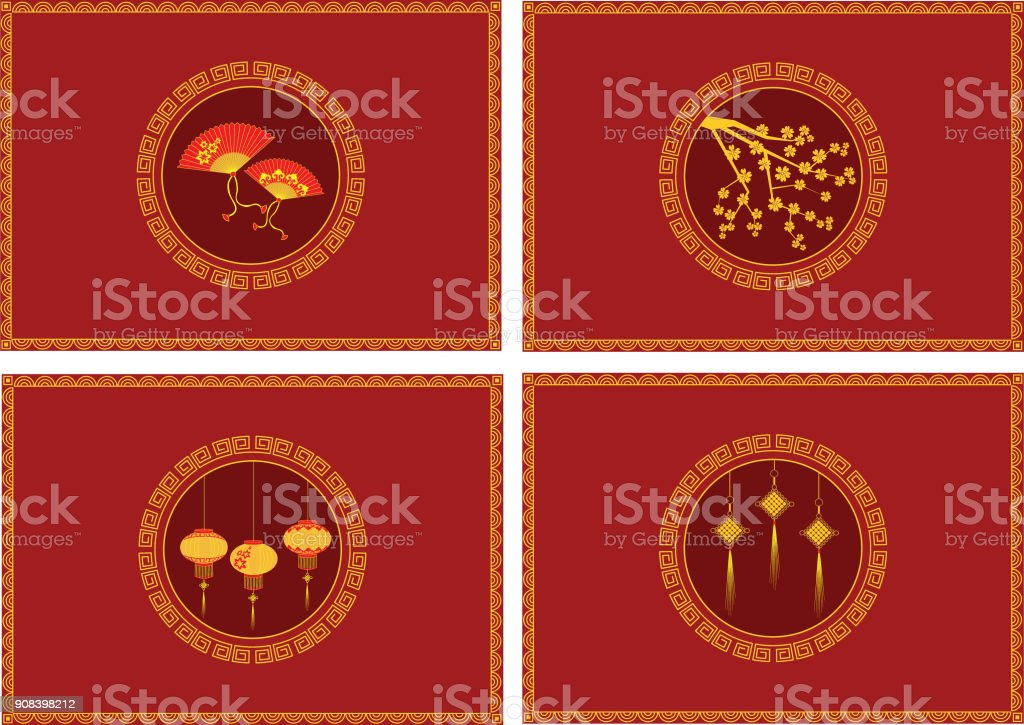 Red packets for Chinese New Year royalty-free red packets for chinese new year stock illustration - download image now