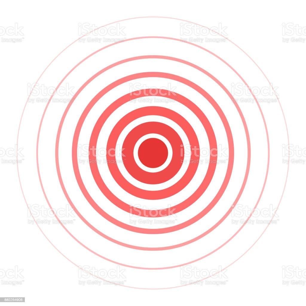 Red pain rings vector art illustration