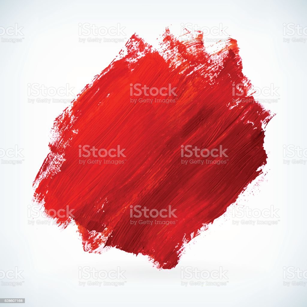 Red paint artistic dry brush stroke vector background vector art illustration