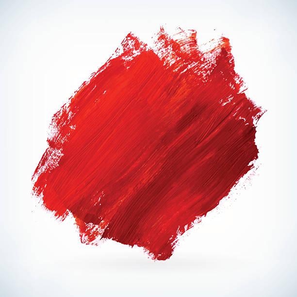 Pintura roja artística seco pincelada vector de de fondo - ilustración de arte vectorial