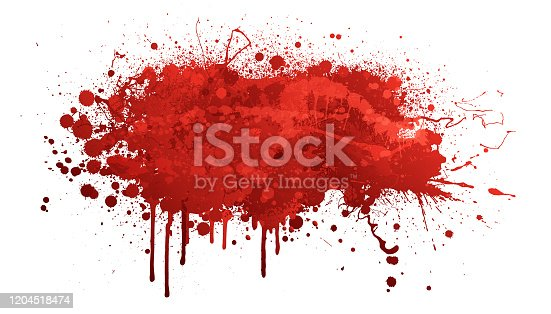 istock Red paint splash 1204518474