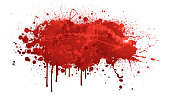 Red paint splash abstract vector background