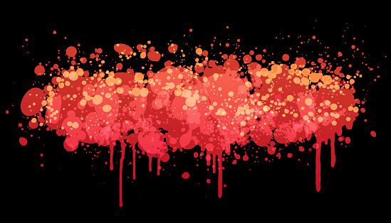 Red paint splash vector