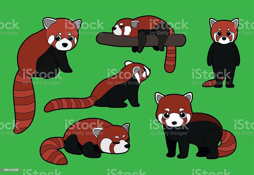Petit Panda Pose De Pinceau Dessin Illustration Vectorielle