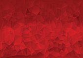 Red paper background polygon.