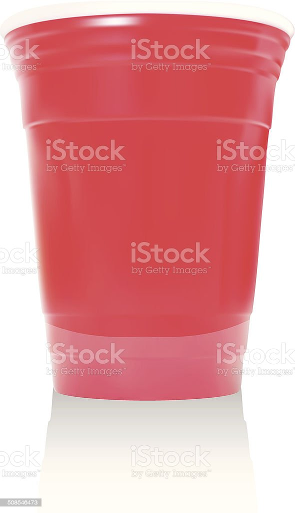 Red Party Cup - Vector Illustration vector art illustration