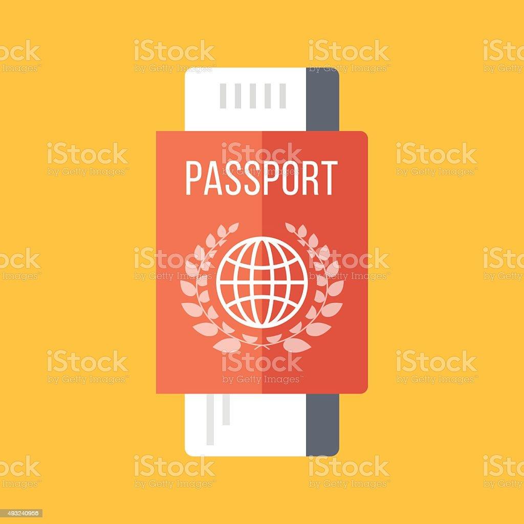 Red pass und boarding pass, Flugtickets. Reise-Konzept – Vektorgrafik