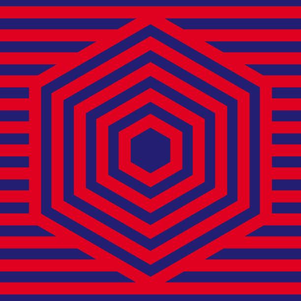 Red Pattern background. Hexagon line pattern. vector art illustration