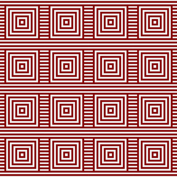 Red Pattern background. Square pattern vector art illustration