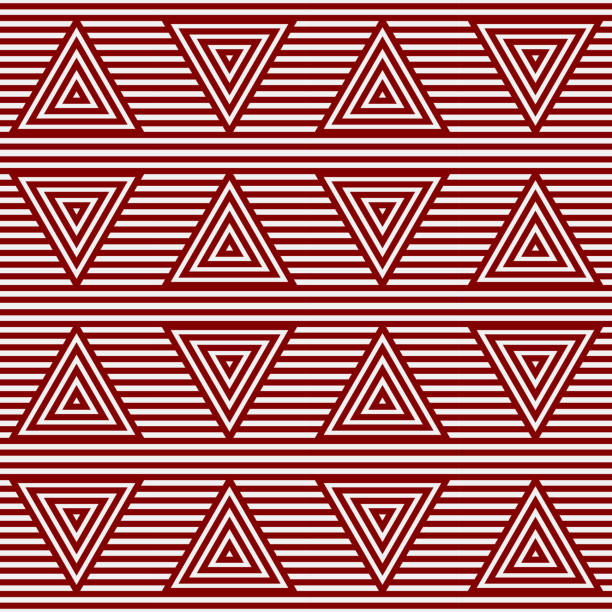 Red Pattern background. Triangle line pattern. vector art illustration