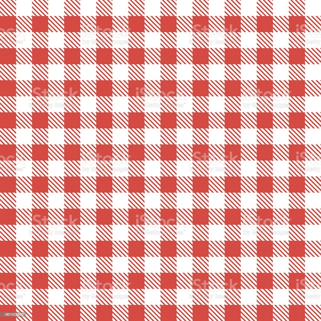 Red patterns tablecloths vector art illustration