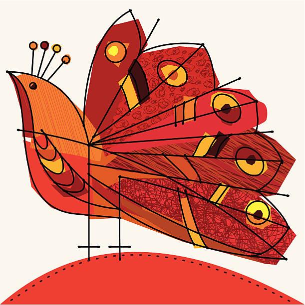 ilustraciones, imágenes clip art, dibujos animados e iconos de stock de rojo de peacock - tintanegra00