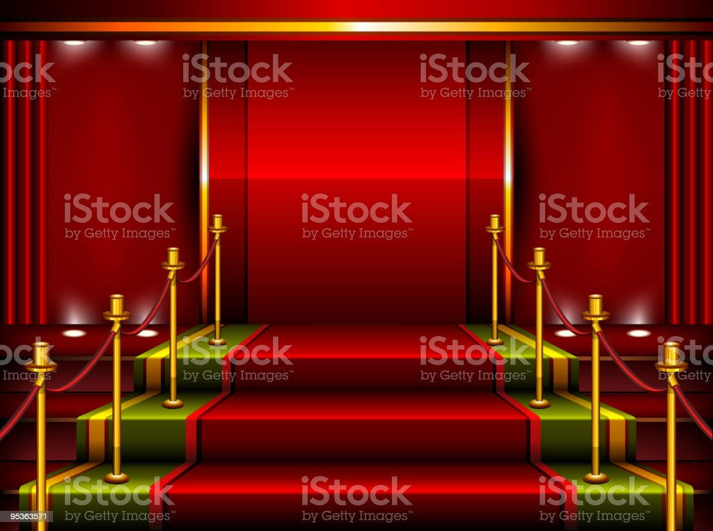 Red pedestal royalty-free stock vector art
