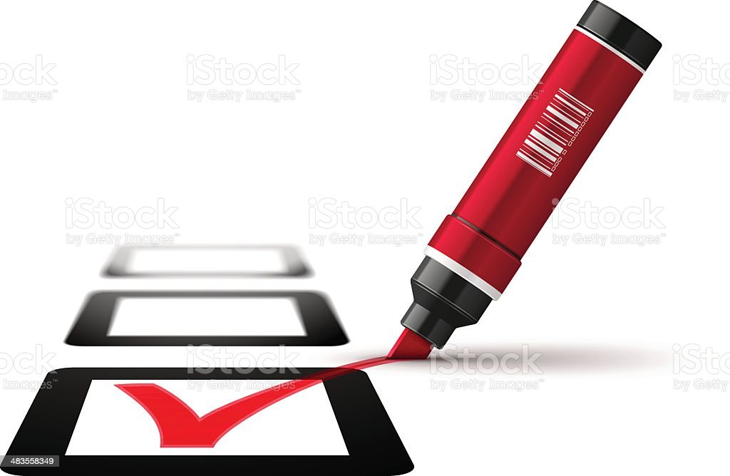 Red Pen with Check Mark royalty-free red pen with check mark stock vector art & more images of application form