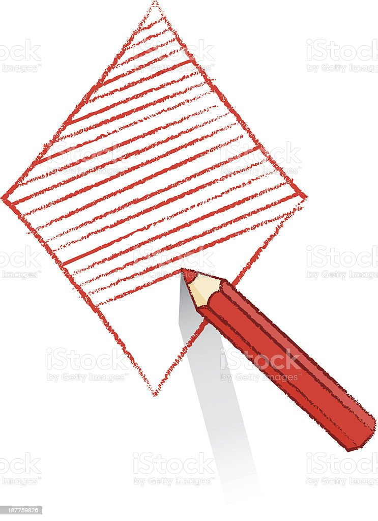 Red Pencil Shading Ace of Diamonds Playing Card Icon royalty-free red pencil shading ace of diamonds playing card icon stock vector art & more images of ace