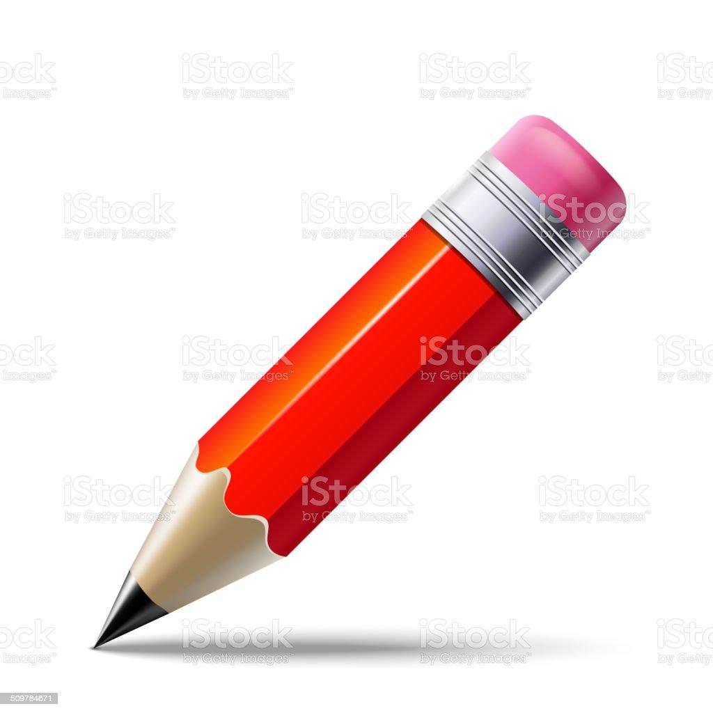 Red pencil vector art illustration