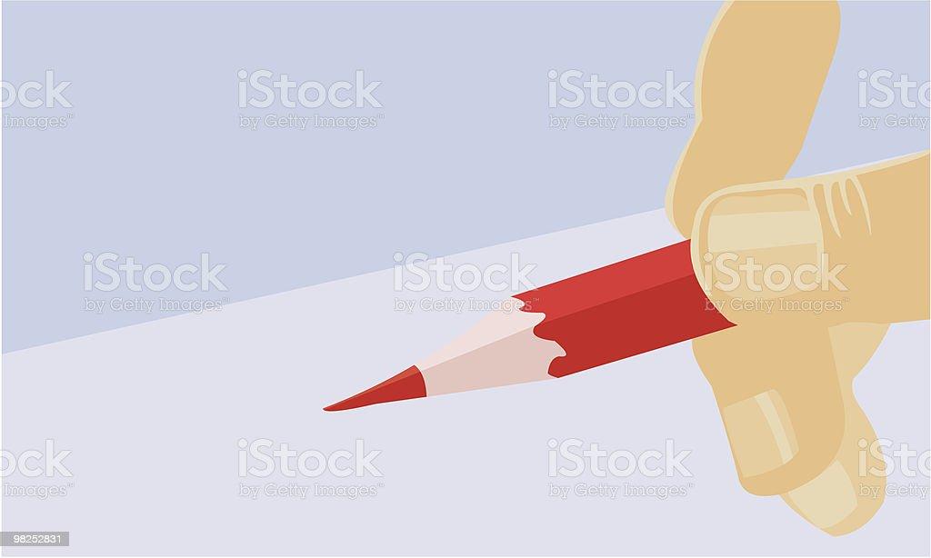 Matita rossa matita rossa - immagini vettoriali stock e altre immagini di artista royalty-free