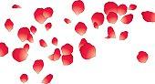 Vector illustration of red petal.
