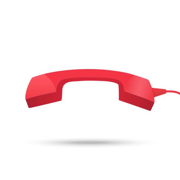 Icono de receptor de teléfono rojo - ilustración de arte vectorial
