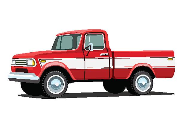 Best Vintage Red Pickup Truck Illustrations, Royalty-Free ...