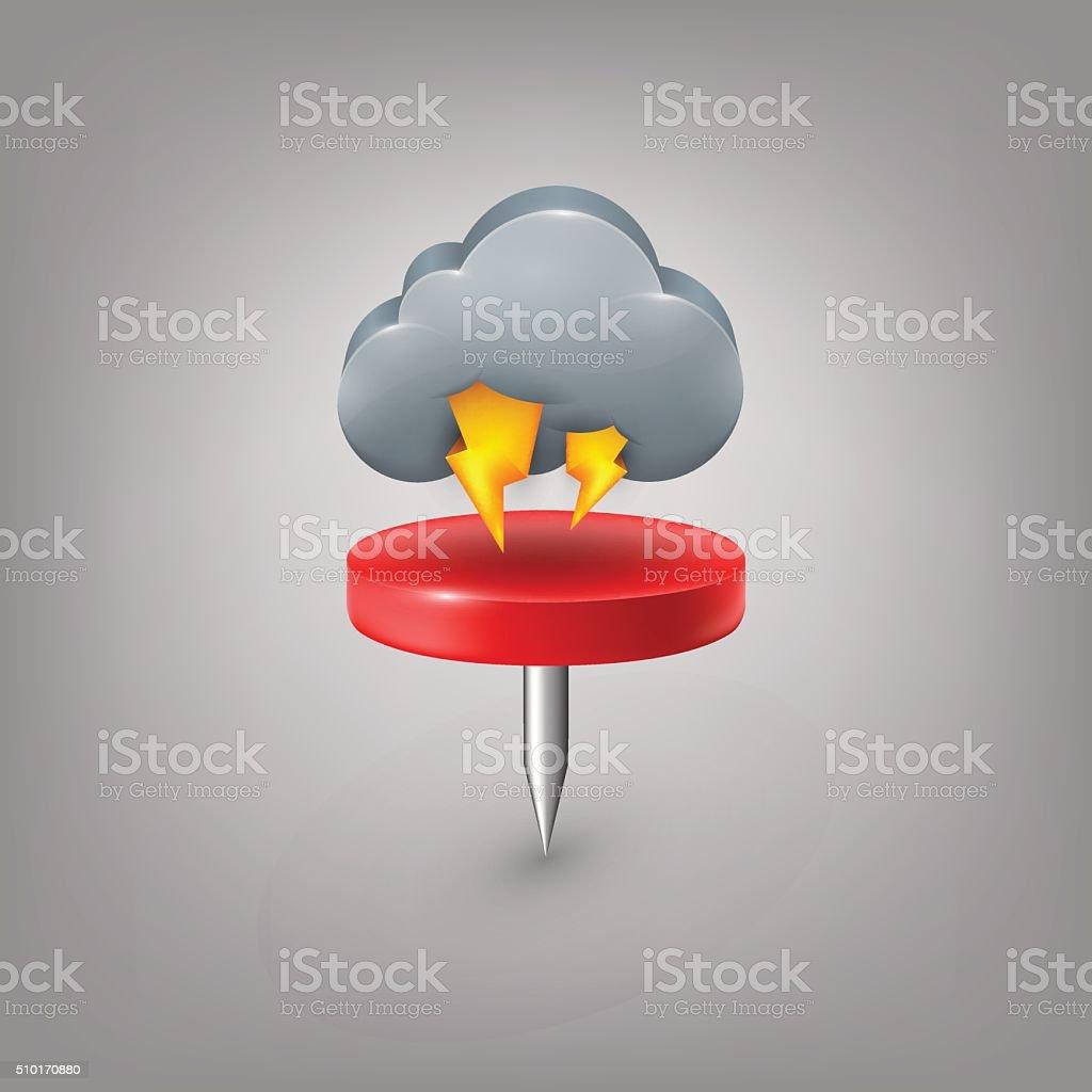 estimate palabra en ingls smbolo tiempo atmosfrico tormenta chincheta